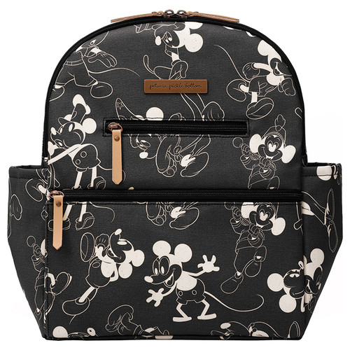Petunia Pickle Bottom Ace Backpack, Mickey's 90th Vintage Black & White