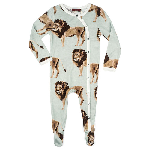Bamboo Footed Romper, Lions