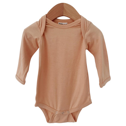 Long Sleeve Bodysuit, Nude
