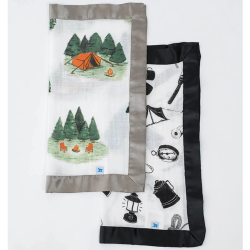 Happy Camper & Camp Gear Security Blankets, 2-pack