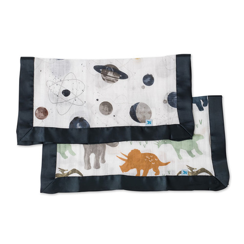Dino Friends & Planetary Security Blankets, 2-pack