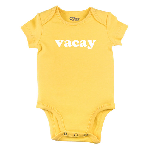 Vacay Bodysuit, Yellow