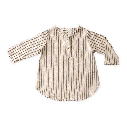 Placket Top, Fennel Stripe