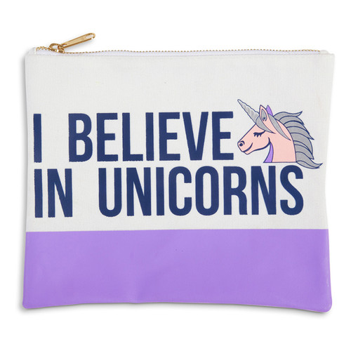 Travel Pouch, I Believe in Unicorns