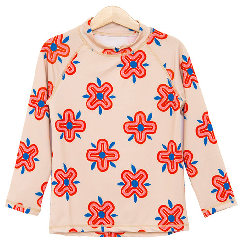 Rash Guard, 70's Flowers