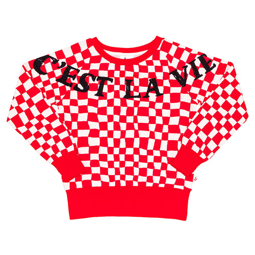 Sweatshirt, Red Checker