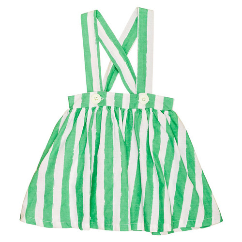 Brace Skirt, Green Stripes