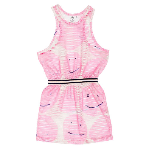 Net Dress, Pink Smiley