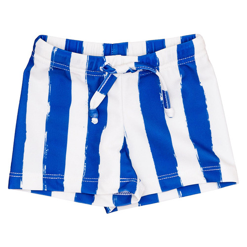 Swim Short, Blue Stripes