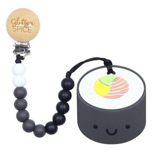 Teether with Clip, Sushi