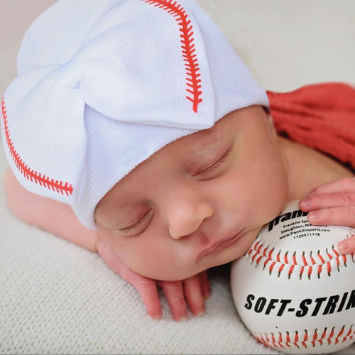 Newborn Bow Hat, Baseball