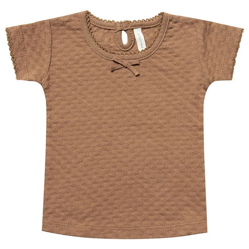 Pointelle Tee, Copper