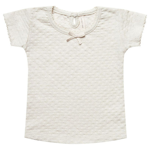 Pointelle Tee, Pebble