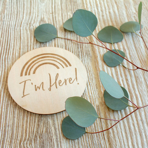 Wooden Keepsake Disc, I'm Here