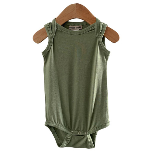 Sleeveless Bodysuit, Sage
