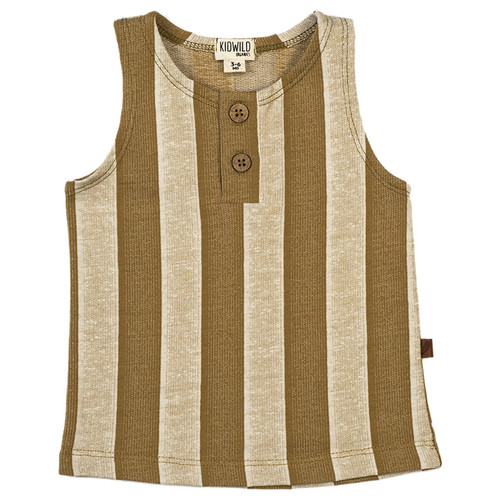 Organic Tank Top, Yellow Stripe
