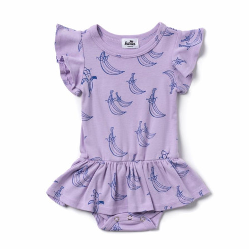 Bananas Dress Bodysuit, Violet