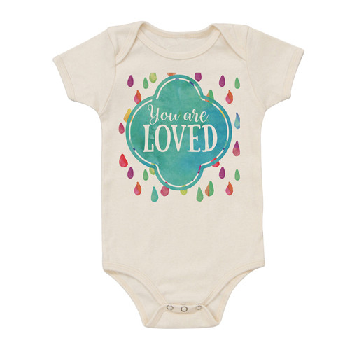 Organic Cotton Bodysuit, You are Loved