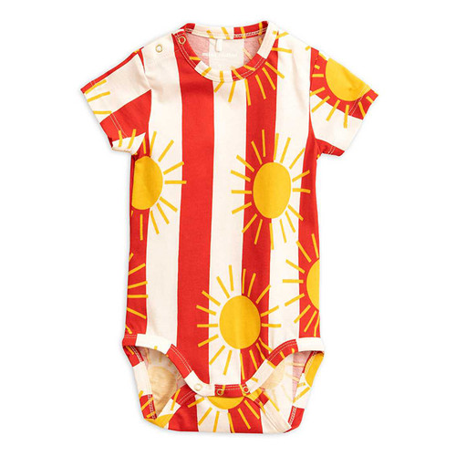 Short Sleeve, Bodysuit, Sun Stripe