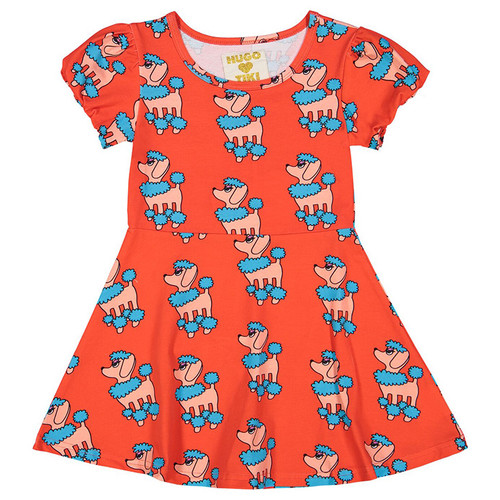 Skater Dress, Red Poodle