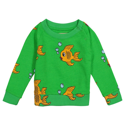 Sweatshirt, Green Fish