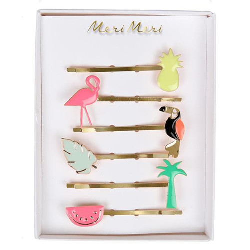 Enamel Hair Slides, Tropical