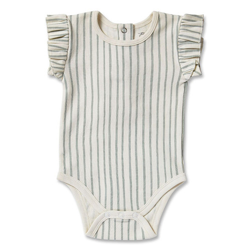 Ruffle Bodysuit, Sea
