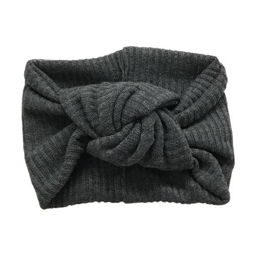 Twist Knot Headband, Charcoal