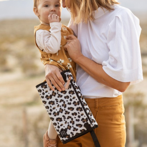 Nimble Diaper Clutch, Leopard