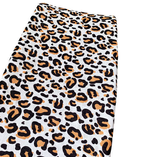 Muslin Changing Pad Cover, Leopard