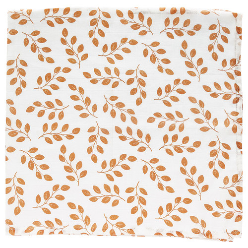 Muslin Swaddle, Amber Leaves