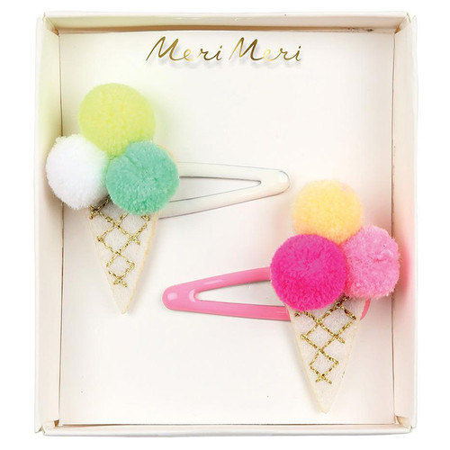 Hair Slides, Pompom Ice Cream