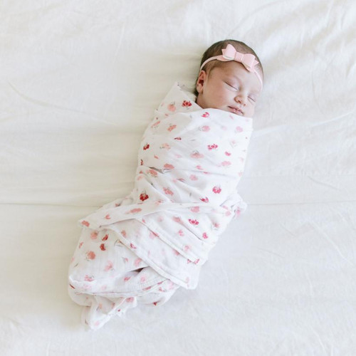 Bamboo Swaddle, Pink Posies