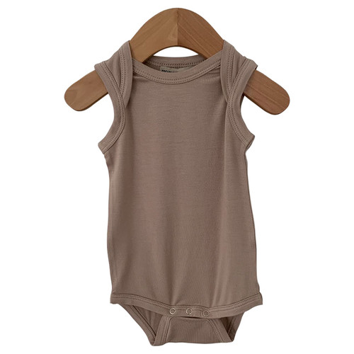 Sleeveless Bodysuit, Clay