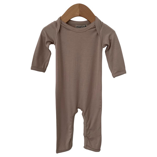 Long Sleeve Romper, Clay
