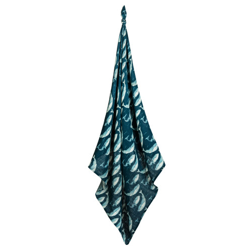 Bamboo Swaddle, Blue Whale