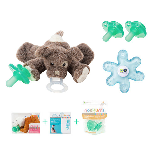 Scruffy Puppy Buddies Pacifier Gift Set