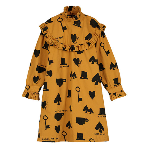 Collar Dress, Camel Wonderland