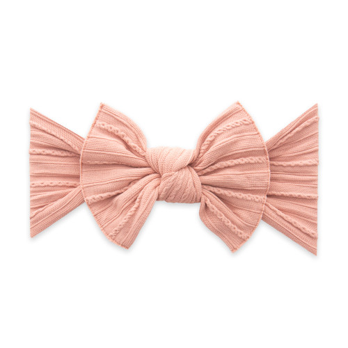Cable Knit Knot Bow, Rose Gold