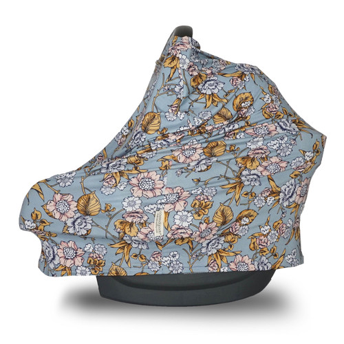 Covered Goods Multi Use Car Seat Cover, Denim Daisy