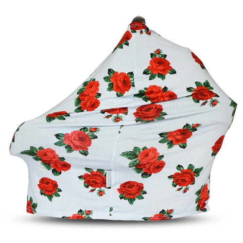 Covered Goods Multi Use Car Seat Cover, Red Rose