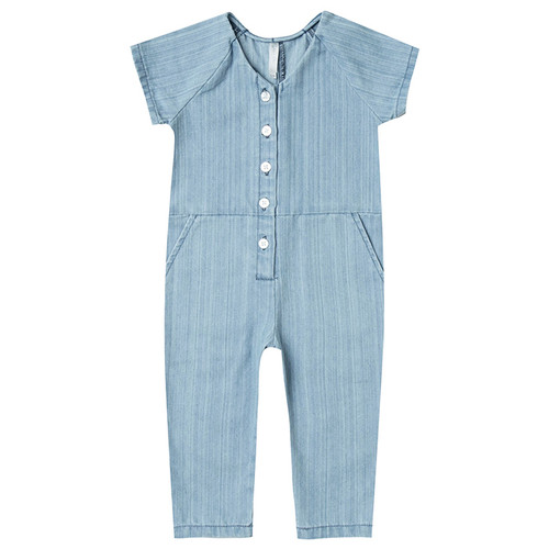Rylee & Cru Utility Jumpsuit, Washed Denim