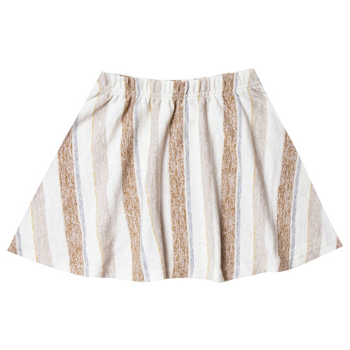 Rylee & Cru Striped Mini Skirt, Caramel