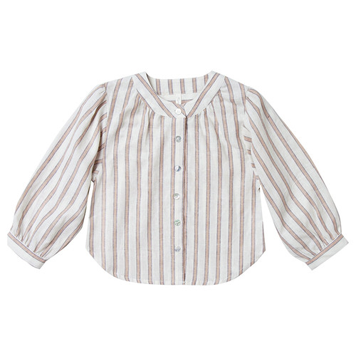 Rylee & Cru Meadow Blouse, Truffle Stripe