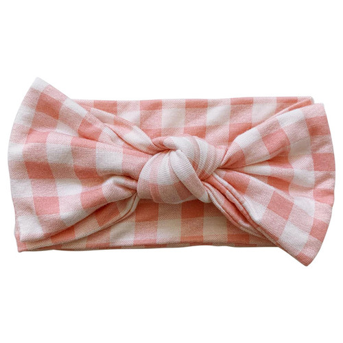 Knot Bow, Pink Gingham