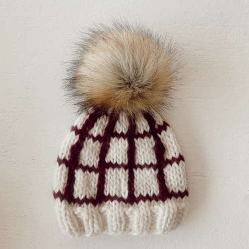 Windowpane Hat, Pomegranate