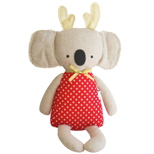 Koala with Antlers Doll, Red Star