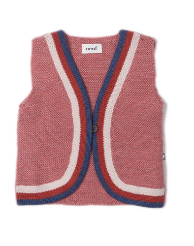 Oeuf Rainbow Vest Rose