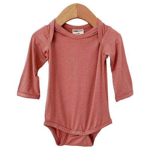 Long Sleeve Bodysuit, Dusty Rose