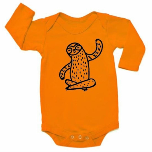 LS Sloth Bodysuit, Copper